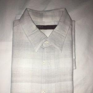 Perry Ellis Button Down Short Sleeve Shirt - Large